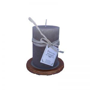 Coupelle pour bougie en béton créatif gris et cuivre de CAP DECO