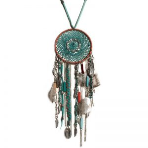 Collier attrape-rêves turquoise