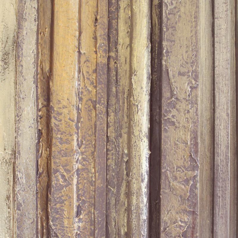 Décoplumes : tableau abstrait bois L55 x H160 cm