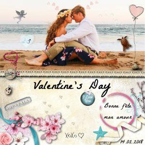 """Déco plumes : carte de Saint-Valentin numérique """"Valentine's Day"""""""