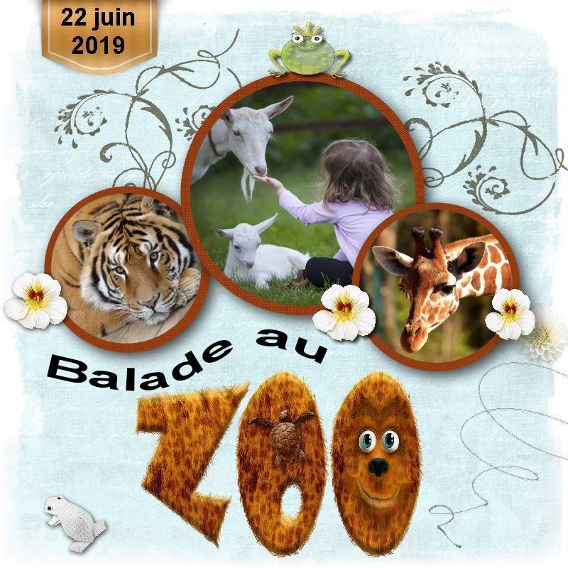 """Déco plumes : modèle de scrapbooking digital """"Balade au Zoo"""""""