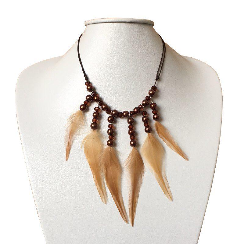 decoplumes : collier plumes cléopatre