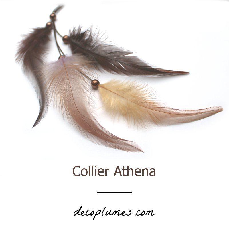 deco plumes : collier athéna plumes naturelles