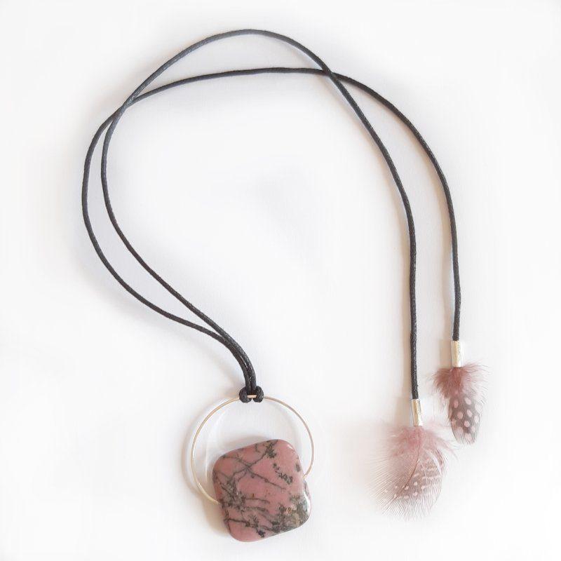 decoplumes-collier-pierre-rhodochrosite-lithothérapie