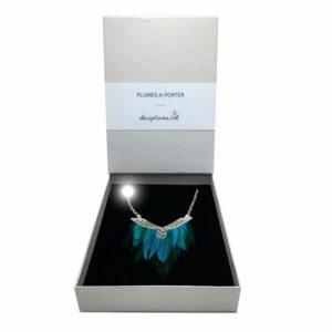 collier-plumes-naturelles-coq-turquoise-et-argent-AG925-decoplumes.